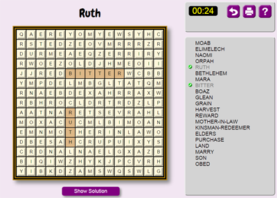 Ruth Word Search